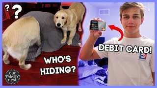 TEEN'S FIRST DEBIT CARD & SCARING THE DOGS!