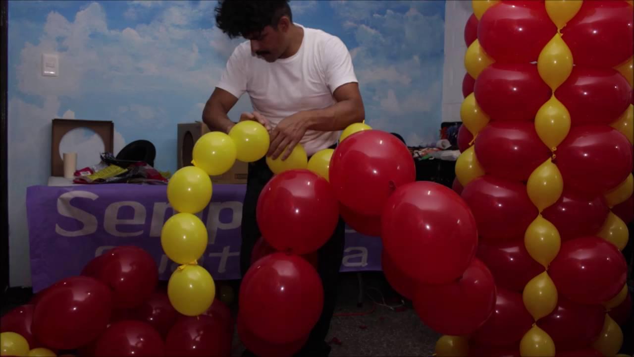 Escultura en globos drag n youtube - Hacer decoraciones con globos ...