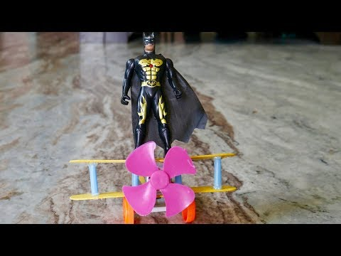 EXPERIMENT : How to make A Plane with DC Motor - Toy Wooden Plane DIY    Crazy Xperiments   