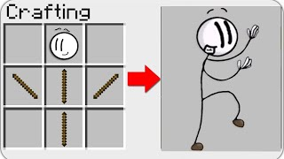 HOW TO CRAFT a Henry Stickmin Distraction Dance in Minecraft? SECRET RECIPE MEME *WOW*