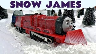 thomas the train snow clearing james trackmaster thomas friends kids toy train set