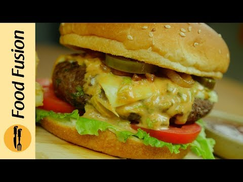 Beef Burger With Fusion Sauce Recipe  By Food Fusion (Eid Recipe)