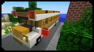 ✔ Minecraft: How to make a School Bus