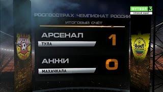 Обзор матча  Футбол  РФПЛ  17 й тур  Арсенал   Анжи 1 0