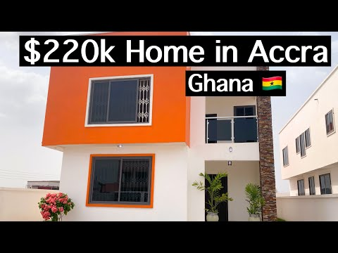 INSIDE A $220K HOUSE IN ACCRA GHANA.|| HOUSE TOUR