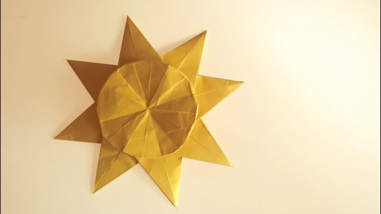 Origami Sun Tutorial Neige A Youtube