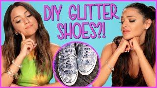 DIY Glitter Sneakers?! | Niki And Gabi DIY or DI-Don