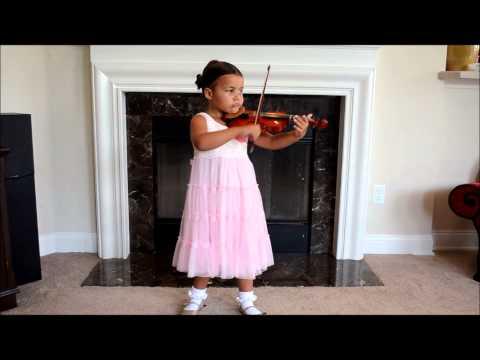 Suzuki Violin Book 1 Graduation Recital, 4 years old