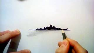 How to draw a battleship in less than 150 seconds!
