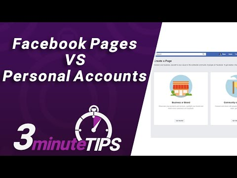 Facebook Business Pages VS Personal Accounts - What's the Difference & HOW to setup a Facebook Page