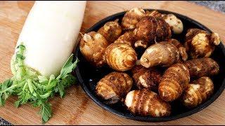 芋头新吃法,加上萝卜这样做,个个劲道爽滑,出锅满屋飘香!