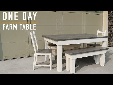 Making a Farmhouse Table Build: One Day Build // DIY Farm Table