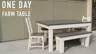 Farmhouse Table Build: One Day Build  // DIY Farm Table