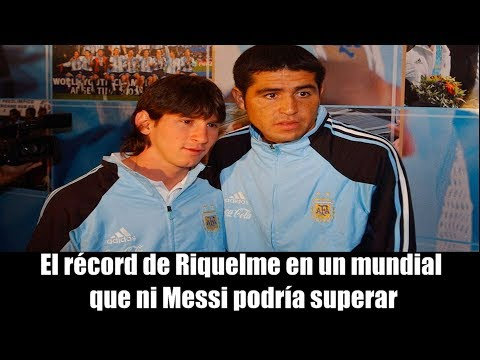 El récord de Riquelme en un mundial que ni Messi podría superar