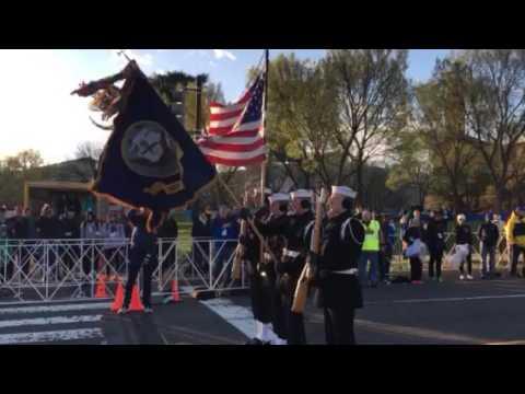National anthem at CU Cherry Blossom Run