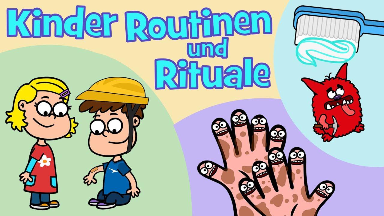 ♪♪ Händewaschen Zähneputzen Trösten - Kinder Rituale und Routinen Kinderlied - Hurra Kinderlieder