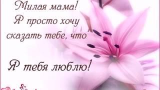 Милая мама! Я хочу сказать тебе, что я тебя люблю