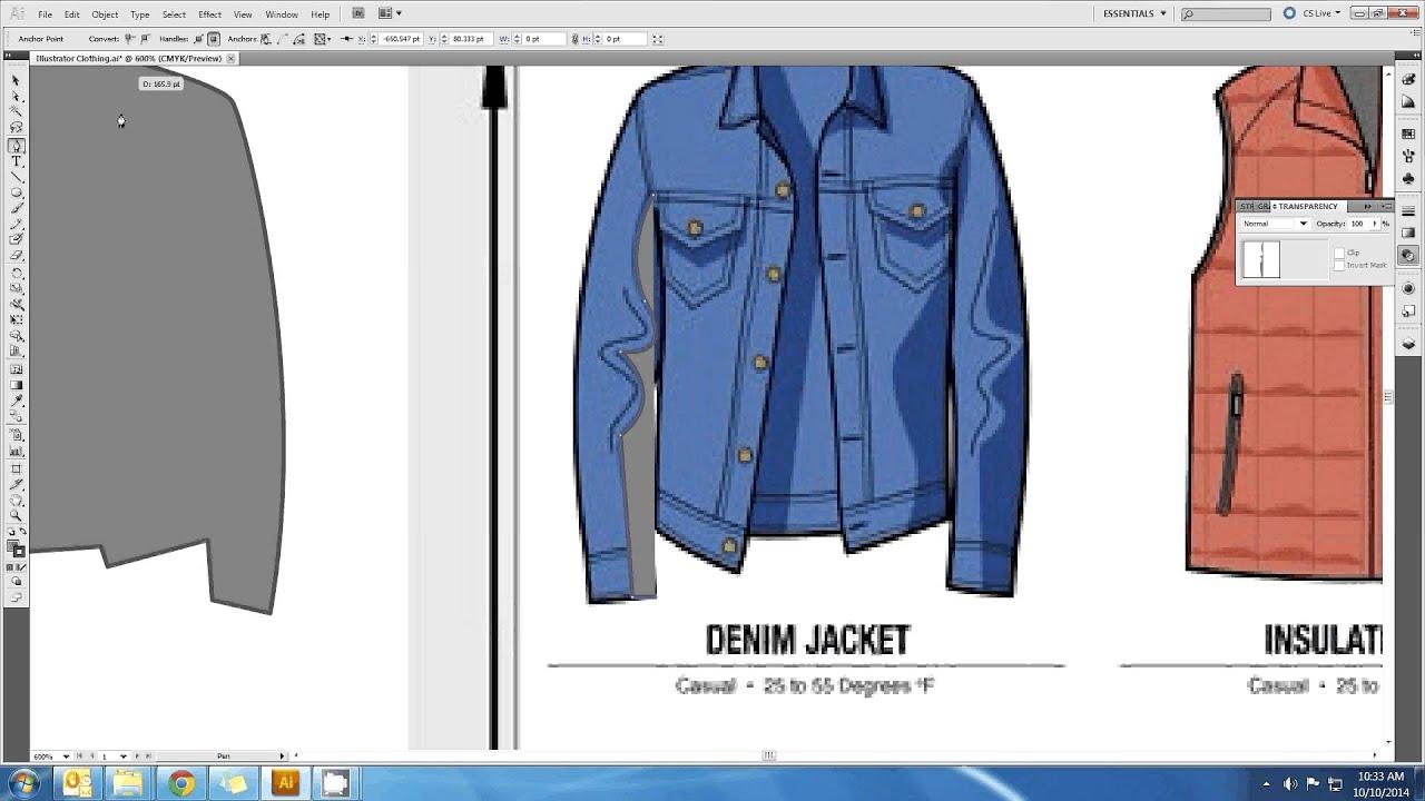 Illustrator Tutorial Clothes Design 3 Youtube