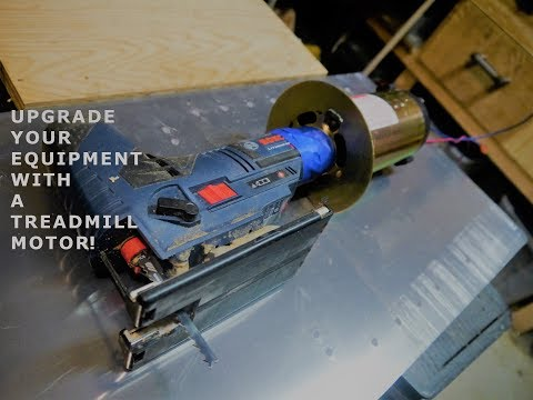 How To Salvage a Treadmill Motor and Controls to Run other equipment at Variable speeds