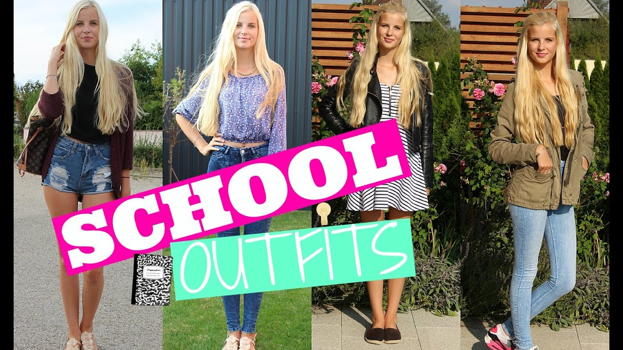 Sommer Outfits Für Die Schule 2015 Back To School Youtube