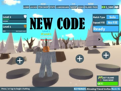 New Island Royale 2019 Codes Roblox Youtube