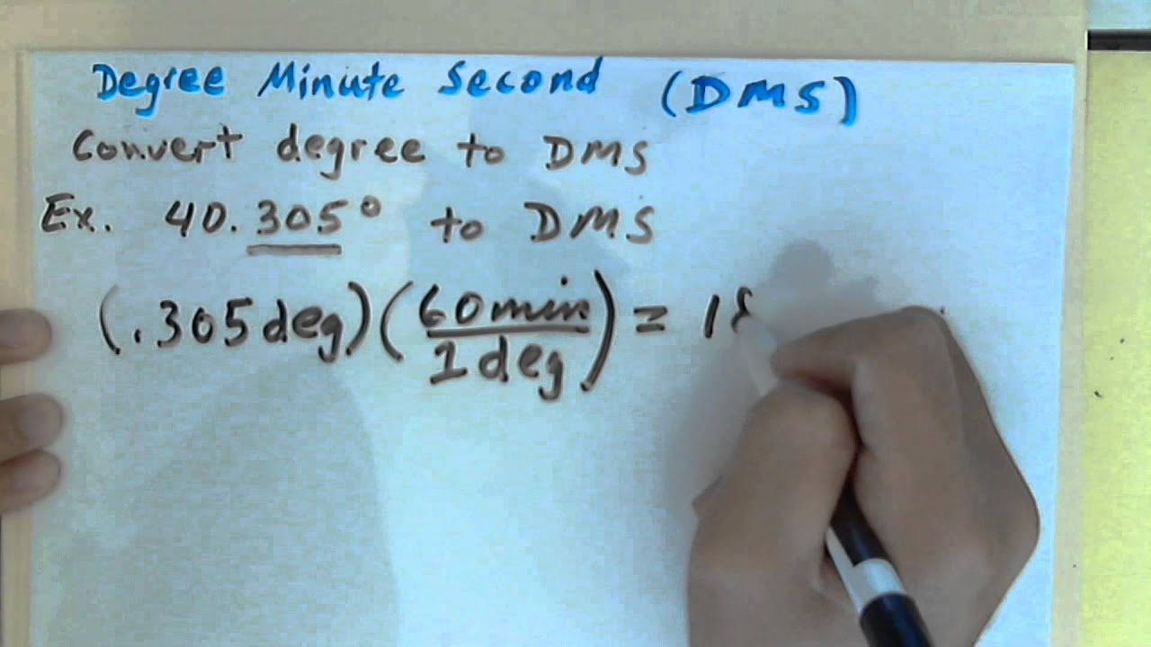 How to Convert Decimal Degree to Degree Minute Second (DMS) - YouTube