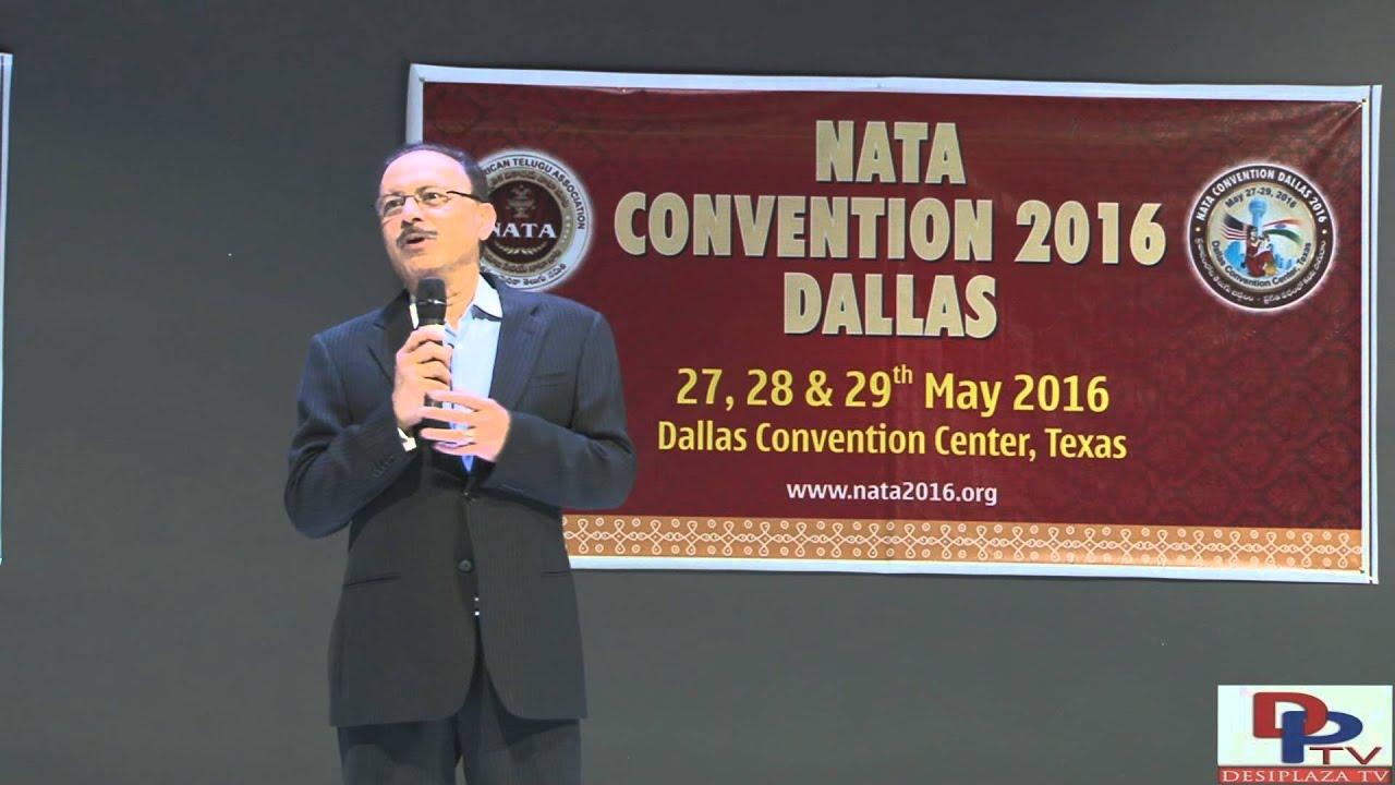 Dr.Premsagar Reddy, speaking at North America Telugu Association (NATA) Fund Raising Banquet