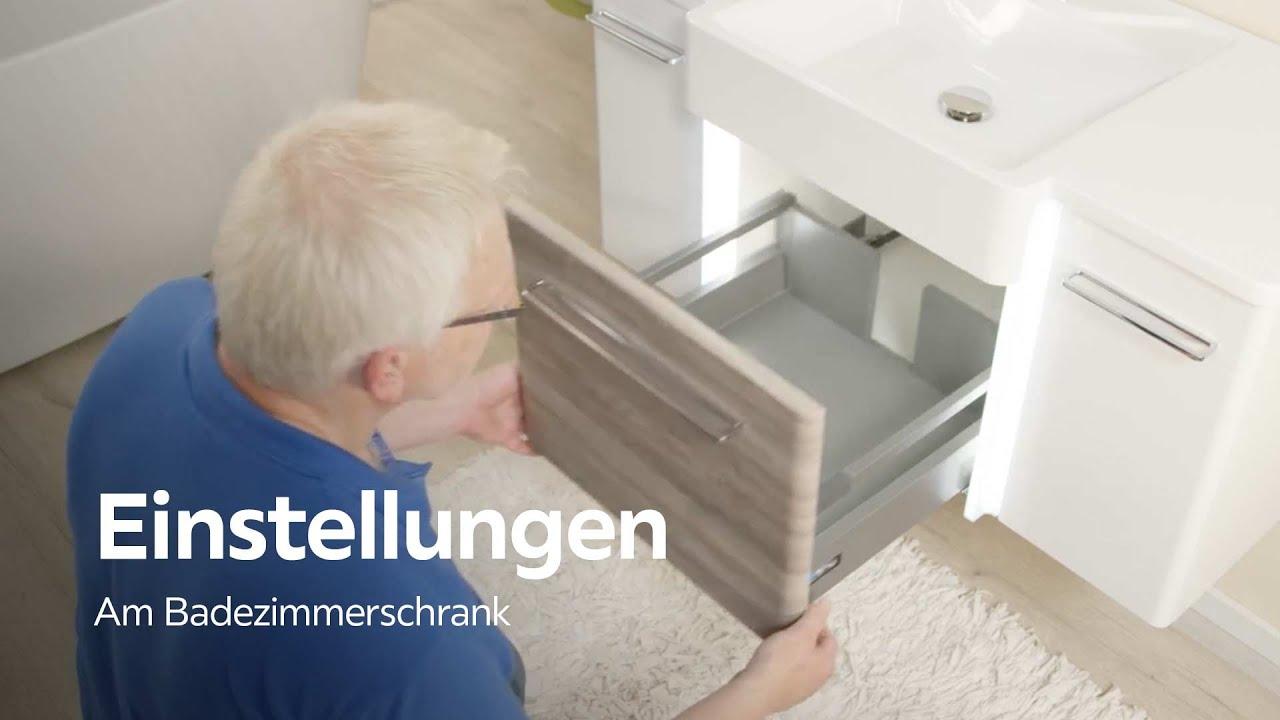 Scharniere und Schubladen einstellen - Badezimmer - XXXLutz - YouTube