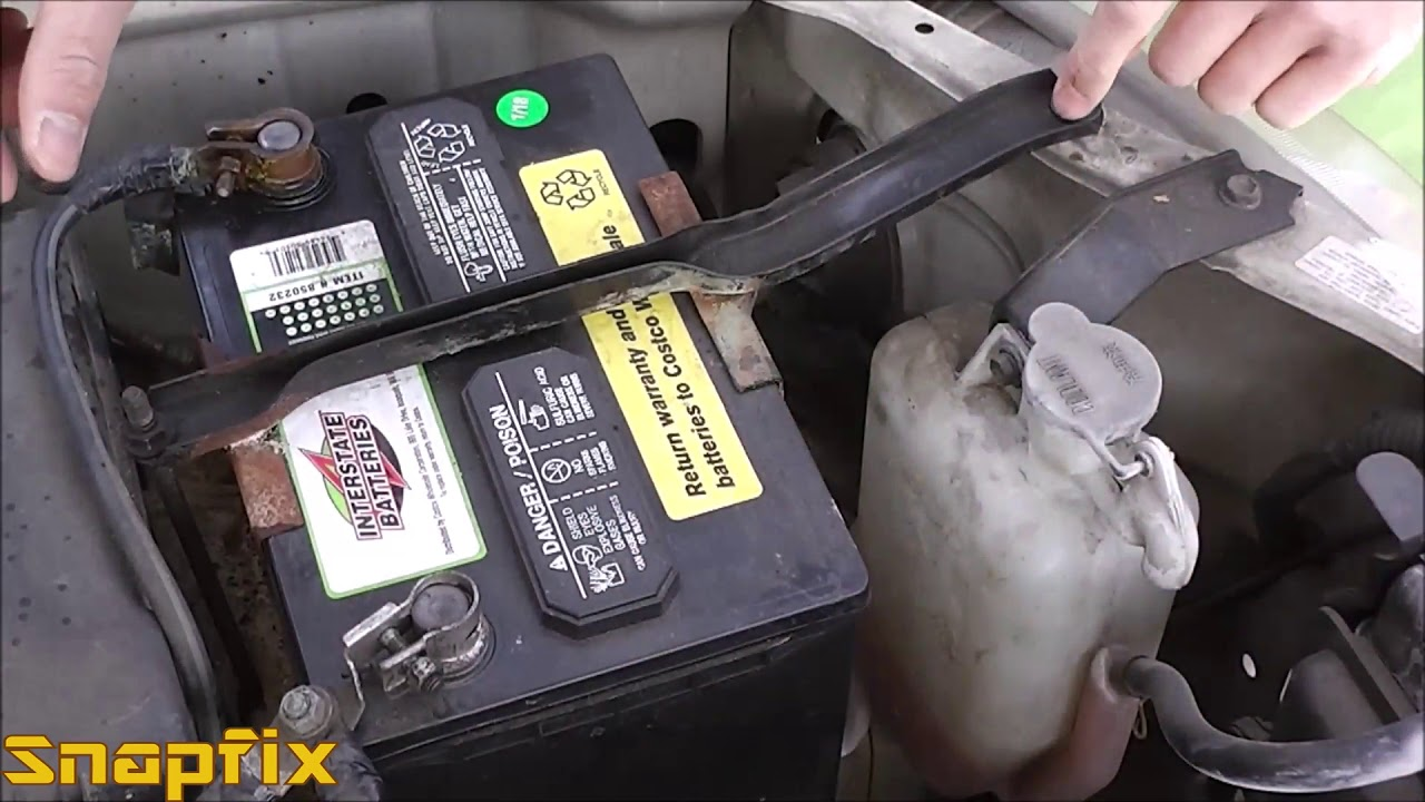 How to Replace a Car Battery - YouTube