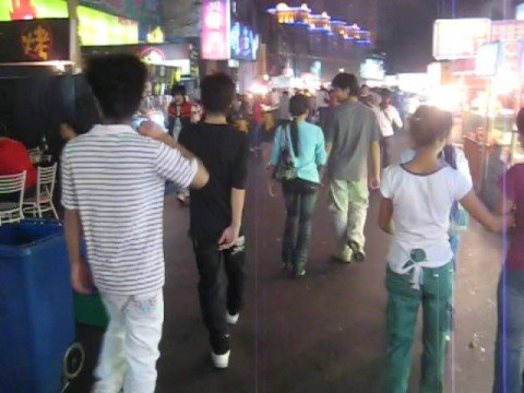 Nanning Street Market at Night