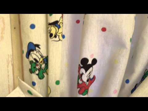 Vintage 1960 Disney Bedroom Curtains