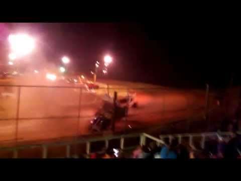 Sumter speedway sprint cars crash