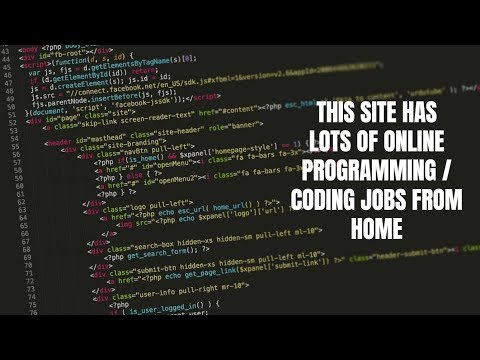 This Site Has Lots Of Online Programming / Coding Jobs From Home