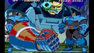 X-Men vs. Street Fighter [PS1] - play as Apocalypse in 1-player mode