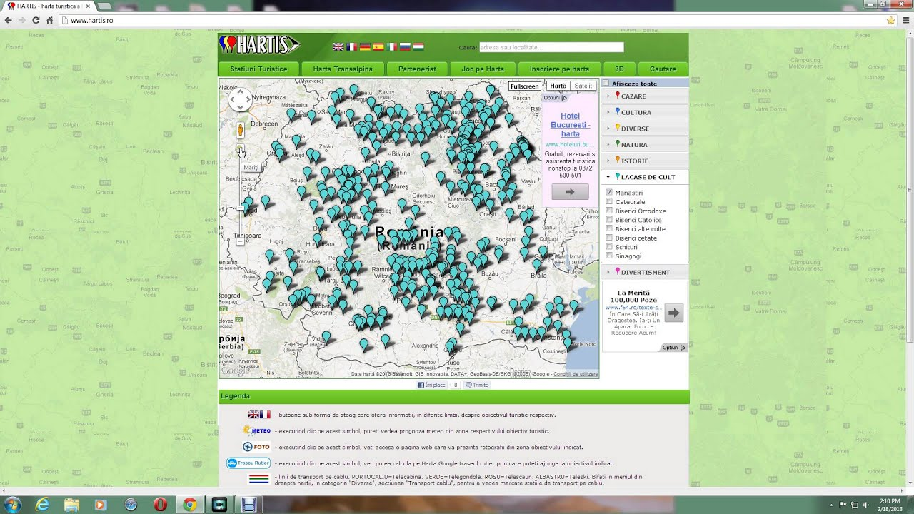 Harta Manastirilor Din Romania Youtube