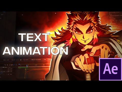 Text Animation/Effect - After Effects AMV Tutorial