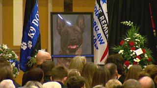 Celebration Of Life For Fishers, Indiana, Police Dog Officer Harlej