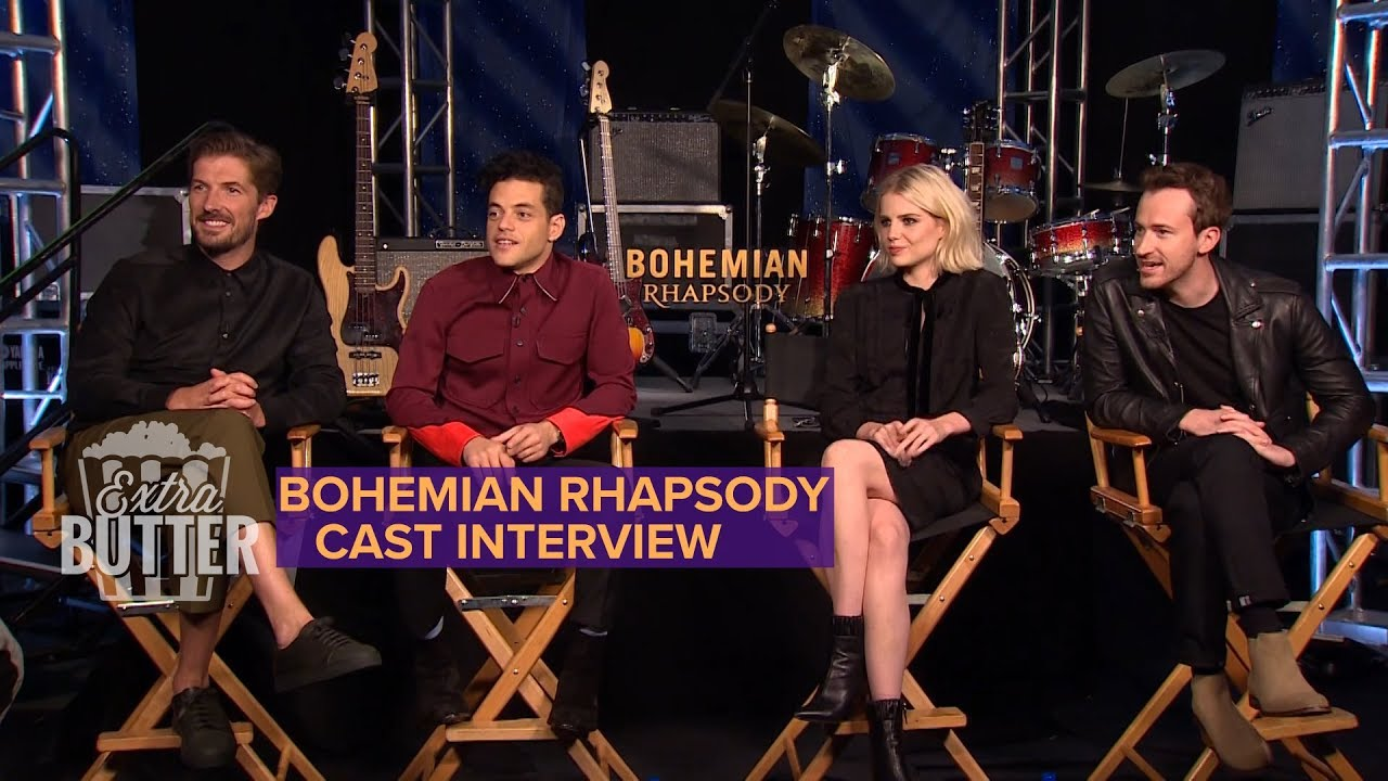 'Bohemian Rhapsody' movie cast interview: Recreating Live Aid Concert |  Extra Butter
