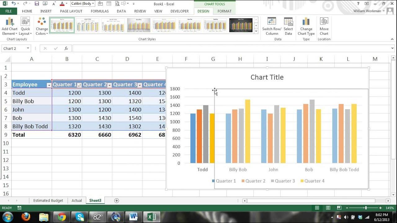 excel formulas chart