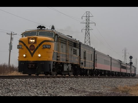 CN FPA-4 Leads NS Illinois Division Christmas Train 2014