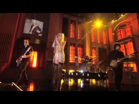"Taylor Momsen and The Pretty Reckless perform ""Just Tonight "" Live on Lopez Tonight pt2 2/10/11"