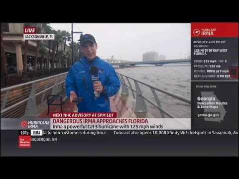 TRACKING IRMA LIVE- THE WEATHER CHANNEL