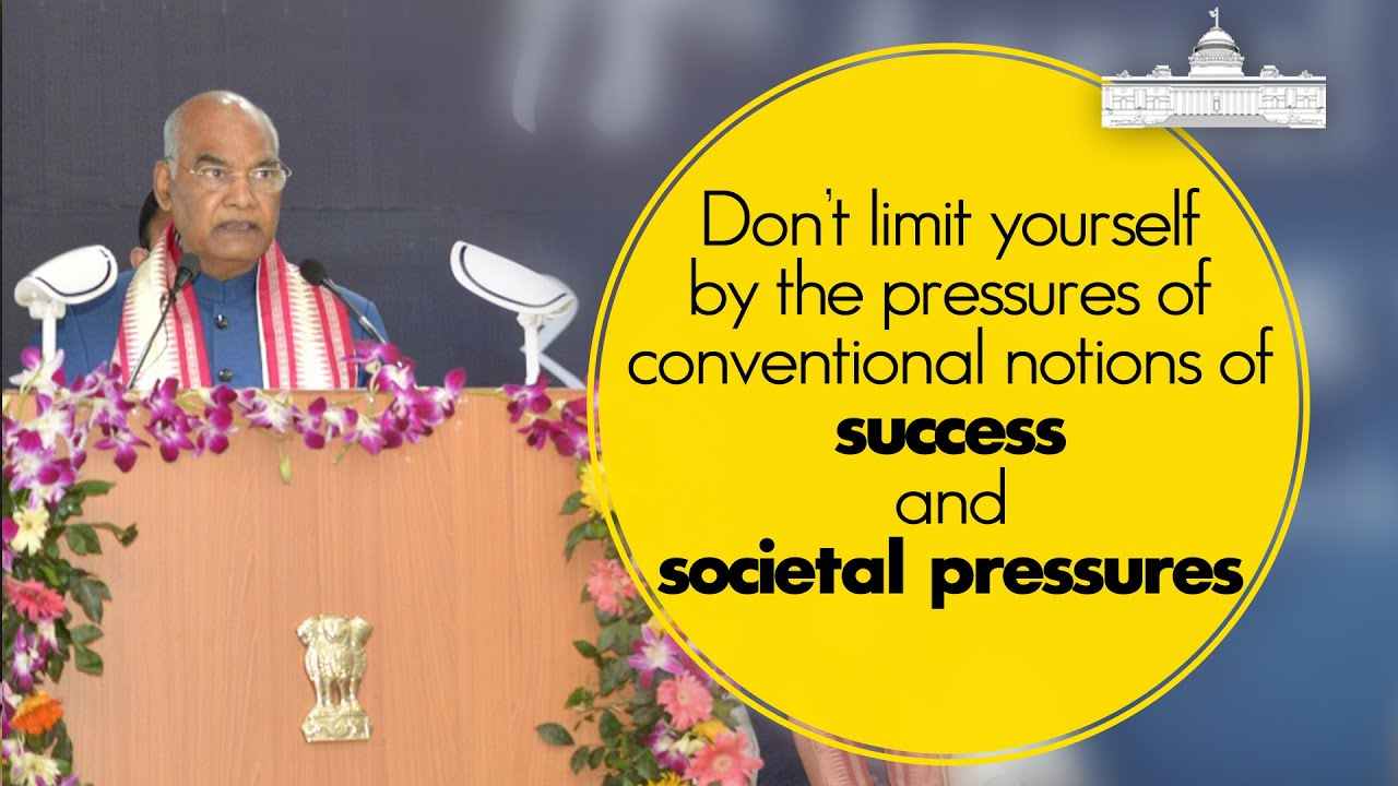 Don't limit yourself by the pressures of conventional notions of success and societal pressures.