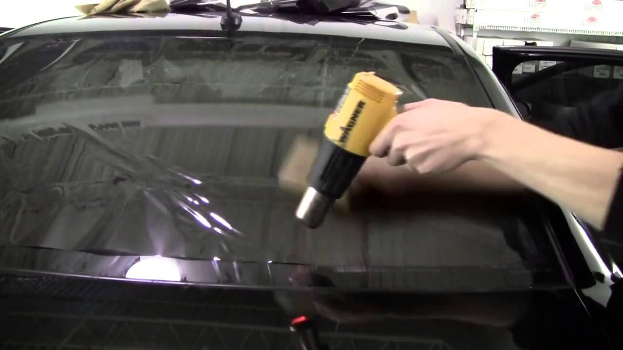 Hướng dẫn dán phim cách nhiệt cho ô tô nhà kính - YouTube
