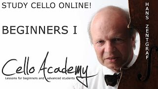 Cello Lessons Online | Beginners I : The cello, bow grip, right arm motion, playing open strings