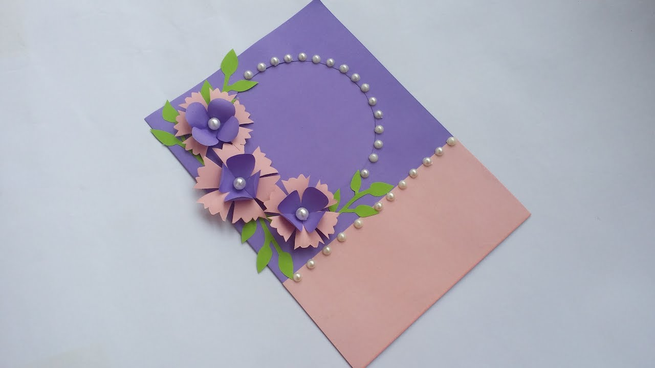 Diy Handmade Greeting Card How To Make Paper Card For Birthday Greetings Valentine Day Eid Card Youtube