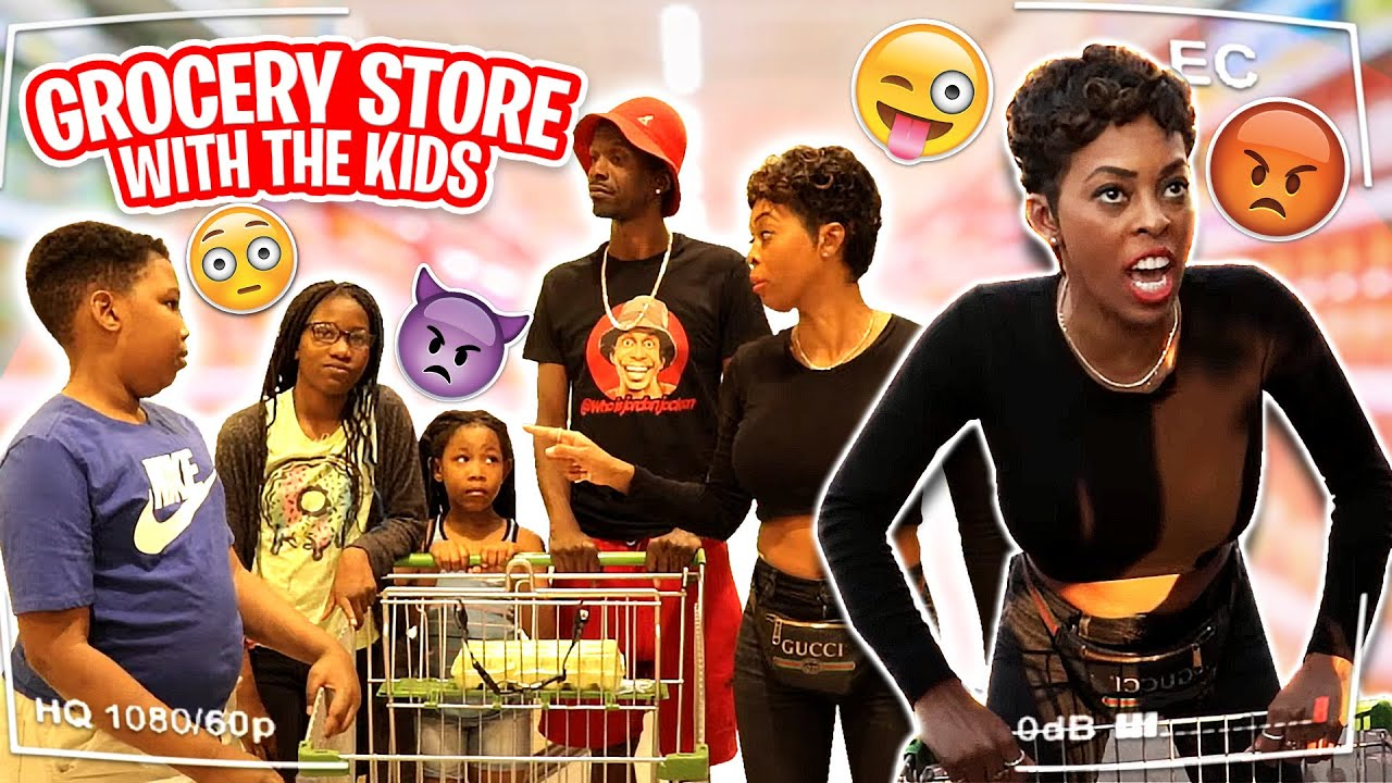 Grocery Store With The Kids   HD 1080p