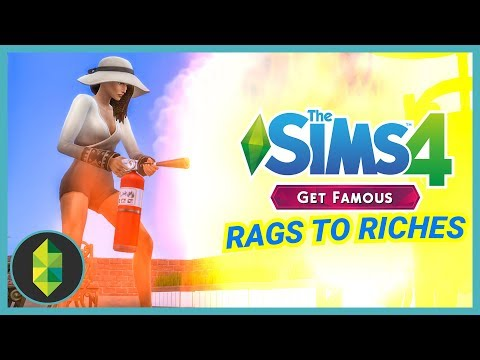 FIRE AT HOLLY'S - Part 18 - Rags to Riches (Sims 4 Get Famous) thumbnail