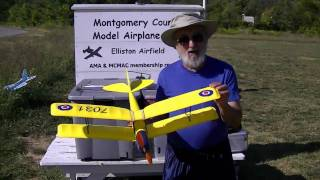 Jim R. flying the modified GWS Pico Tiger Moth Electric Biplane 2010-09-19