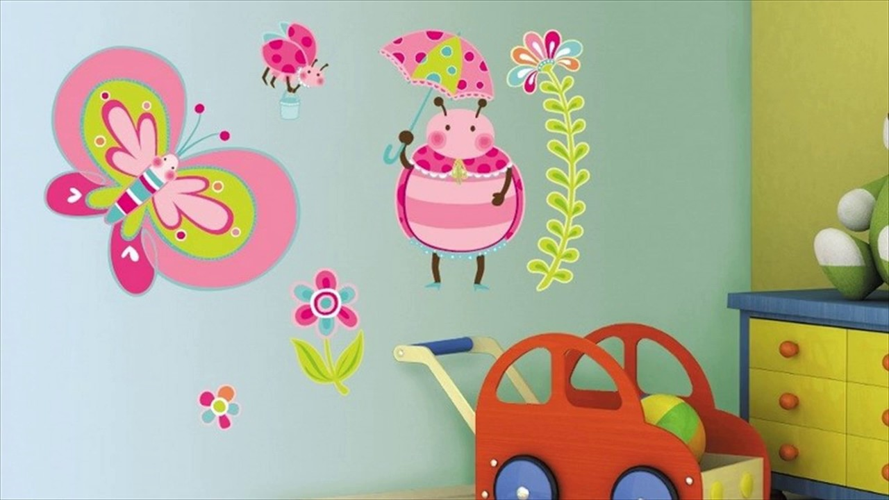 Butterfly Custom Wall Stickers For Kids Room - YouTube